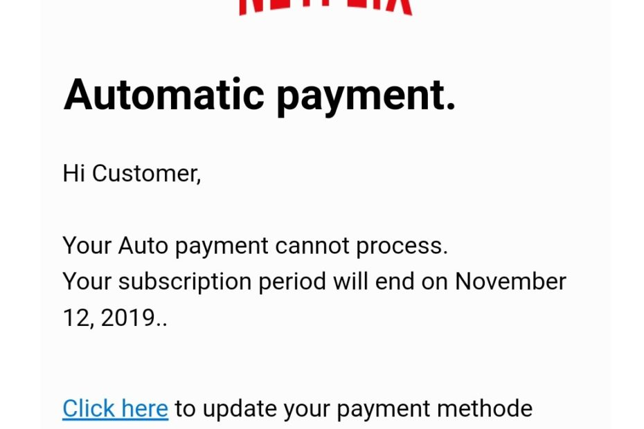 example of real netflix email scam